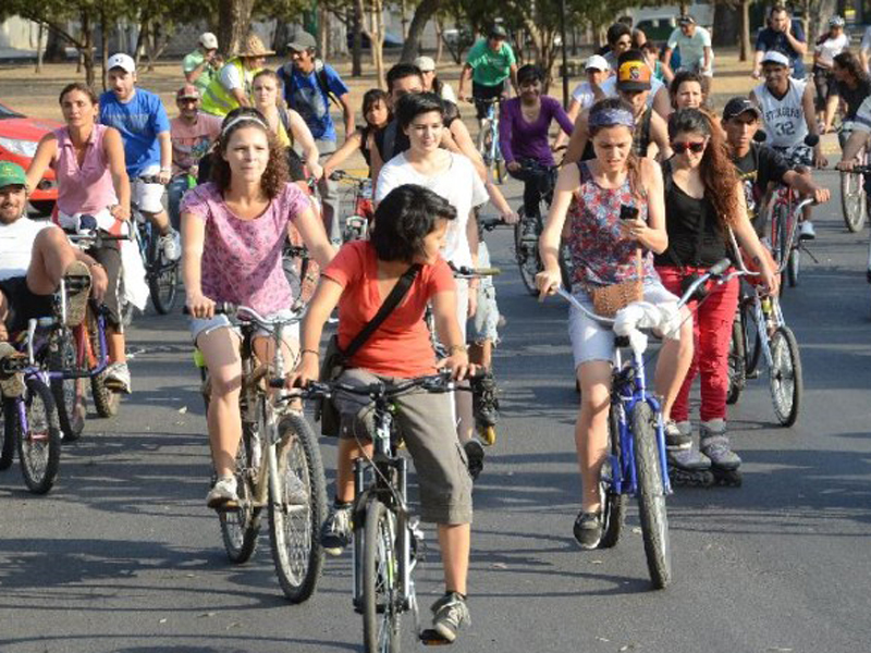 Bicicleteada para toda la familia
