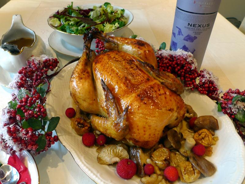 Recetas para navidad y fin de año: gran pollo relleno