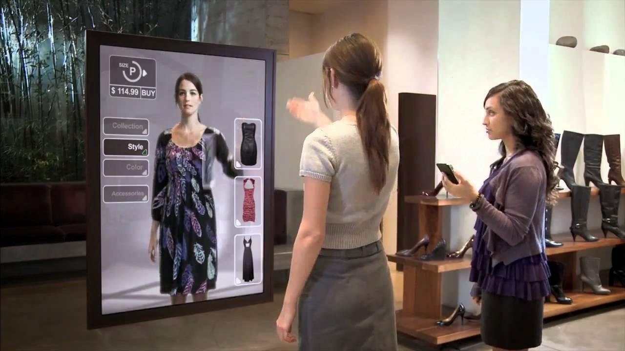 Un nuevo método a la hora de probarnos ropa, espejos inteligentes