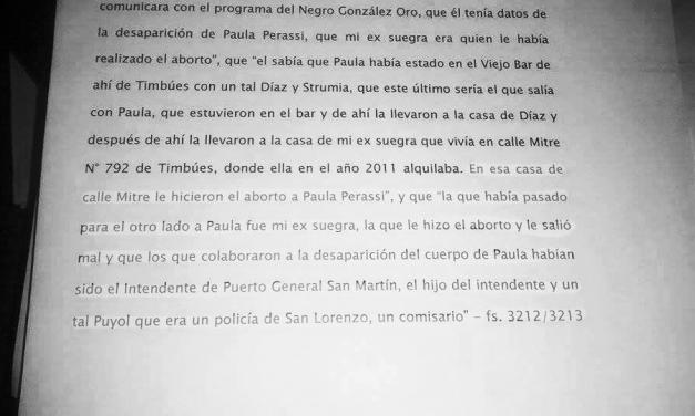 Testigo clave involucró a De Grandis en la desaparición de Paula