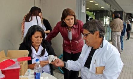 El municipio realizó más de 200 controles de glucosa en sangre